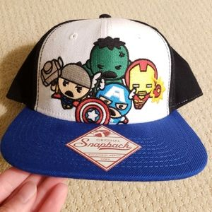 Marvel snap back wool hat new w tags